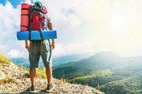 backpacker in der Natur