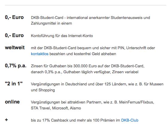 Studenten zahlen mit Kreditkarte