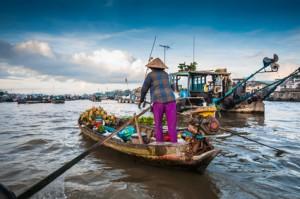 Flussmarkt in Vietnam