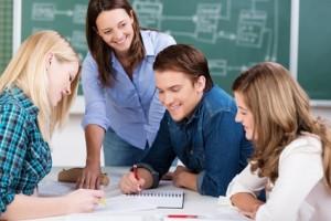 Gruppe von Schülern