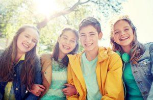 Gruppe von Teenager
