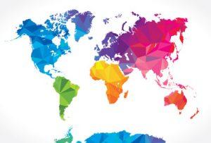 Karte der Welt