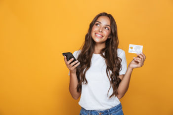 Kreditkarte mit Zahlungsoptionen