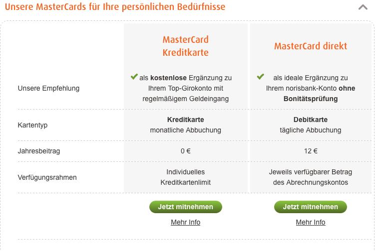 norisbank kreditkarten im vergleich infos zum. Black Bedroom Furniture Sets. Home Design Ideas