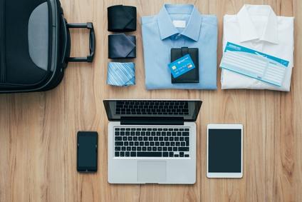 Reisegepäck mit Kreditkarte