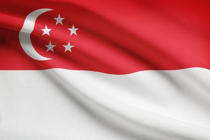 Singapuar Flagge