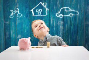 Sparen für Zukunft des Kindes