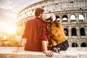 Studenten Paar im Urlaub